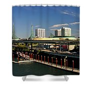 Portland East Bank Shower Curtain