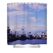 Portland Harbor Panaramic Shower Curtain