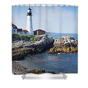 Portland Head Lighthouse Portland Me Shower Curtain