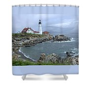 Portland Headlight, Maine Shower Curtain