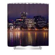 Portland Night Skyline Shower Curtain