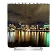 Portland Nightscape Shower Curtain