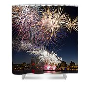 Portland Oregon Fireworks Shower Curtain