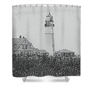 Portland Sketch Shower Curtain