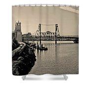 Portland Steel Bridge Shower Curtain