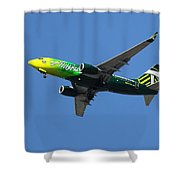 Portland Timbers - Alaska Airlines N607as Shower Curtain by Aaron Berg