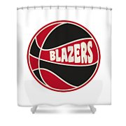 Portland Trail Blazers Retro Shirt Shower Curtain