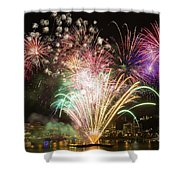 Portland Waterfront 4th Of July Fireworks Shower Curtain