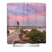 Portland Waterfront Hawthorne Bridge At Sunset Shower Curtain