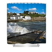 Portmellon In Winter Shower Curtain