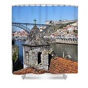 Porto And Gaia Cityscape In Portugal Shower Curtain