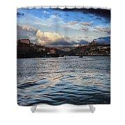 Porto And Vila Nova De Gaia River View Shower Curtain