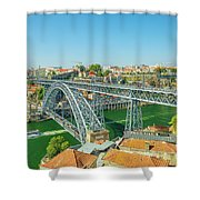 Porto Bridge Skyline Shower Curtain