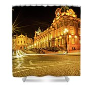 Porto City By Night Shower Curtain
