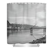Porto Landscape With A Sky Shower Curtain