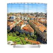 Porto Panorama Skyline Shower Curtain