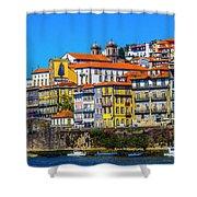 Porto Rising Shower Curtain