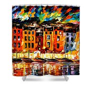 Portofino - Liguria Italy Shower Curtain