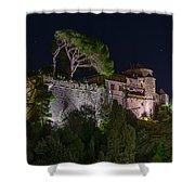 Portofino Bay By Night V - Notte Al Castello Shower Curtain