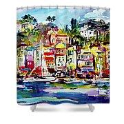 Portofino Italian Riviera Shower Curtain