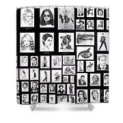 Portrait And Illustrations On Fine Art America Shower Curtain