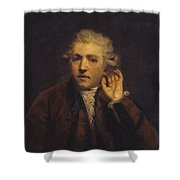 Portrait As A Deaf Man Shower Curtain
