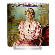 Portrait Commissions By Portrait Artist Carole Spandau Shower Curtain