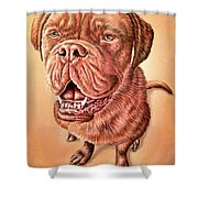 Portrait Drawing Of A Dog Shower Curtain