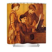 Portrait Group Of The Artists Family Shower Curtain
