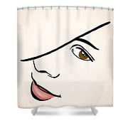 Portrait In Line Shower Curtain