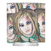 Portrait Shower Curtain