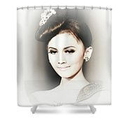 Portrait Of A Beautiful Girl Shower Curtain