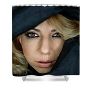 Portrait Of A Beautiful Woman Shower Curtain