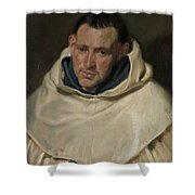 Portrait Of A Carmelite Friar Shower Curtain