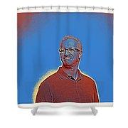 Portrait Of A Caucasian Male Shower Curtain