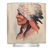 Portrait Of A Chief Shower Curtain