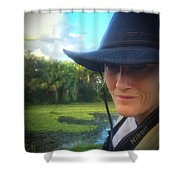 Portrait Of A Conservationist Shower Curtain