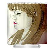 Portrait Of A Lovely Young Woman Shower Curtain
