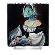 Portrait Of A Gentlefisher Shower Curtain