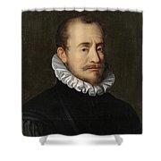 Portrait Of A Gentleman Workshop Of Hans Von Aachen - Circa 1600 Shower Curtain