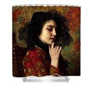 Portrait Of A Georgian Princess Shower Curtain