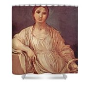 Portrait Of A Girl With Crown 1642 Shower Curtain