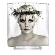 Portrait Of A Jesus Woman Shower Curtain
