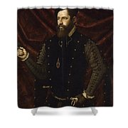 Portrait Of A Knight Of The Order Of Santiago Shower Curtain