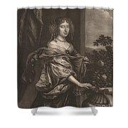 Portrait Of A Lady Beside A Rose Bush Shower Curtain