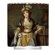 Portrait Of A Lady In Turkish Fancy Dress Shower Curtain