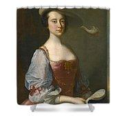 Portrait Of A Lady In Van Dyck Dress Shower Curtain