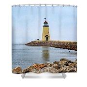 Portrait Of A Lighthouse Shower Curtain
