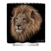 Portrait Of A Lion Shower Curtain