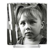 Portrait Of My Little Neighbor Shower Curtain